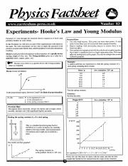 Experiments Hooke's Law and Young Modulus.pdf