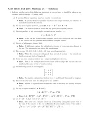 Midterm 1-Fall 2007-Solutions
