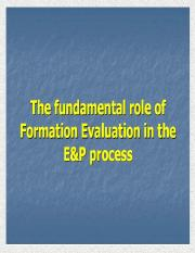 Lecture 9 Formation Evaluation -Well Logging.pptx