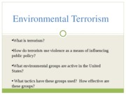 Crystal%27s Environmental Terrorism Lecture