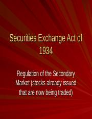 VSB 2007  - 6A Securities Exchange Act.ppt