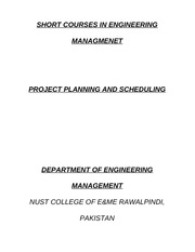 Project Planning & Scheduling