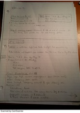 The plan, class notes