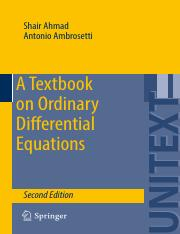 A Textbook on Ordinary Differential Equations 2ed [2015]