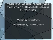 Inequalities in Society Power Point Housework