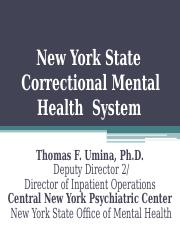 New York State Correctional Mental Health  System.ppt