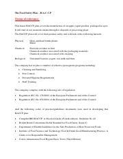 Yogurt HACCP plan.xlsx - Process Step Hazard Analysis ...