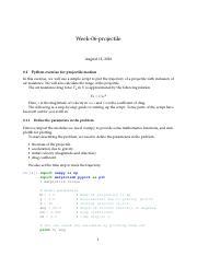 Week-06-projectile-exercise - Week-06-projectile 0 1 Python