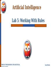 Lab 5- Working with Rules