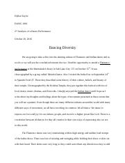 2nd Analysis Dance Paper