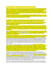 a model of christian charity summary A model of christian charity john winthrop excerpts 1630 full document  summary christian charity a model hereof god almighty in his most  holy.