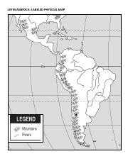 LATIN AMERICA PHYSICAL MAP Blank - LATIN AMERICA LABELED ...