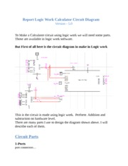 Report Logic Work Calculator Circuit Diagram