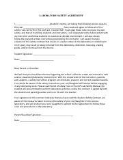 LABORATORY SAFETY AGREEMENT (1)