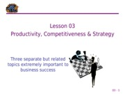 03 Productivity, Competitiveness, & Strategy