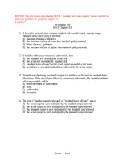 Test 3 (CH. 8,9)