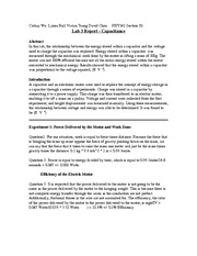Lab 3 Capacitor Report