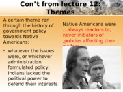 Lecture 13 - Native Americans 2