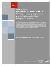 SocialProtection in Pakistan A Profile of Existing Programmes and an Assessment of Data Available fo
