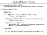 12. Transferable Emissions Permits