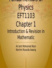 EFT1103-Introduction And Revision In Mathematics