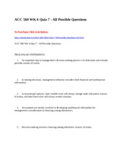 ACC 560 WK 6 Quiz 7 - All Possible Questions