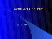 World War One Part 20II NEW