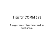Tips for Assignments