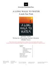 A Long Walk to Water-Pre Session