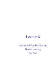Lec08 Advanced Parallel Sorting
