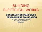Building electrical works (CMDF)