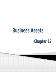Chapter 12 PowerPoint Slides