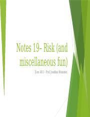 Notes 19 -- Risk (1).pptx