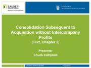 4. Consolidation Subsequent to Acquisition without Intercompany Profits
