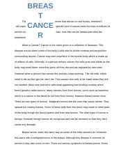 Cancer essay.