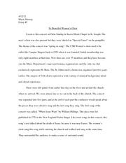 Womens Choir Essay