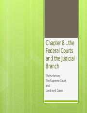 Chapter 8 the federal courts and the judicial branch