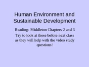 Sept 11 Human Env and Sust Development