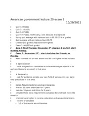 American government lecture 20 exam 2
