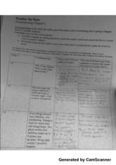 Ch. 5 Foreshadowing WK-Sheet & Ch. 6 Outline & Ch. 7 Outline & Ch. 8 outline