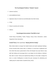 The Psychological Problems Yolanda HW2