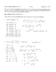 exam 1 fall 2010 solutions