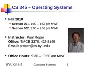 CS345 10 - Multiprocessor Scheduling