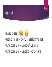 Chapter 14 class powerpoint