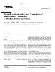 Screening, Diagnosing and Prevention of Fetal Alcohol Sydrome.pdf