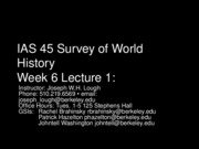45+Week+6+Lecture+1 - Emergence of Christian Religion, Spread of Islam, Universal Religion