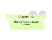 Ch 10 Risk and Return