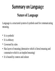 Summary+on+Language
