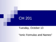 CH 201 Lecture 04 2009s