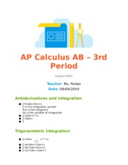 Calculus AB Notes